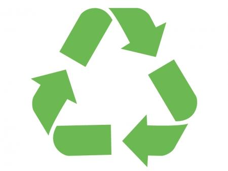 リサイクルをイメージさせるマークのイラスト