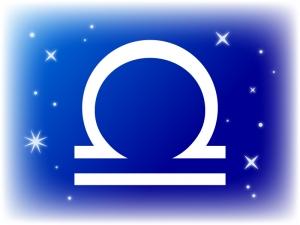 天秤座(てんびんざ)の星座マークのイラスト