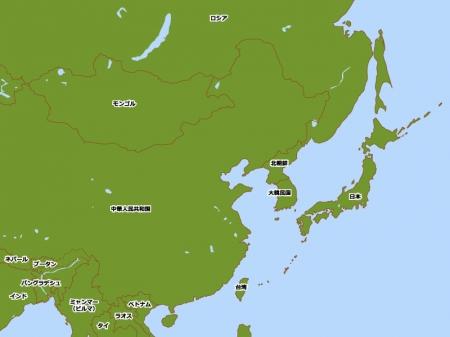 アジアの地図イラスト素材