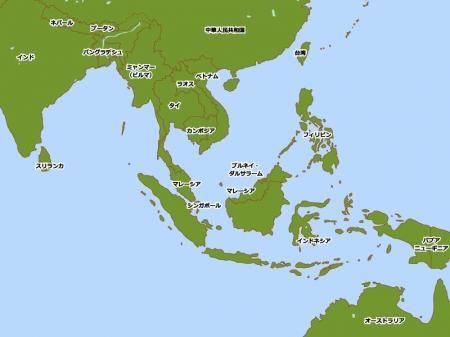 東南アジアの地図イラスト素材