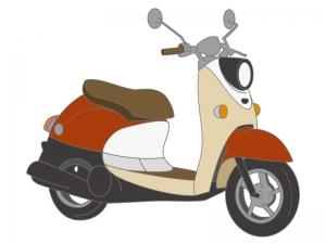 スクーター・バイク・ベスパのイラスト