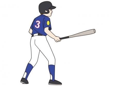 少年野球のバッターのイラスト