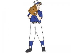 少年野球のピッチャーのイラスト