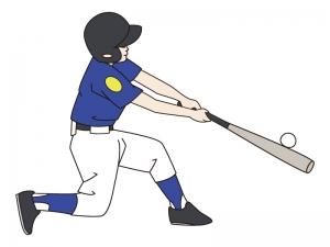 少年野球のバッターのイラスト02