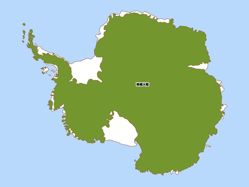 南極大陸の地図イラスト素材