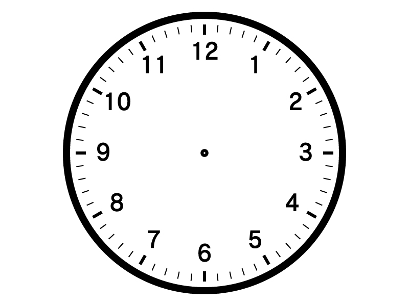時計の文字盤のイラスト