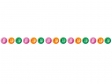 カラフルなボタンのライン・線イラスト
