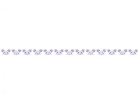 かわいらしいネズミのライン・線イラスト
