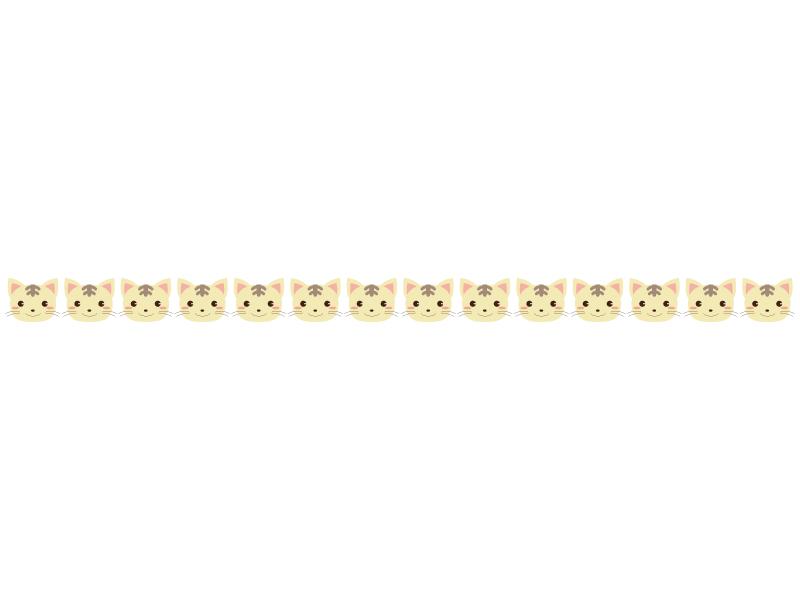 かわいらしいネコのライン・線イラスト