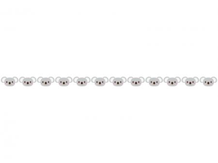 かわいらしいコアラのライン・線イラスト