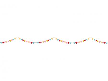 フラッグガーランドのライン・線イラスト03