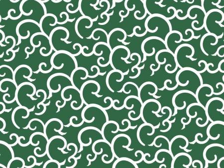 唐草模様(緑)のイラスト