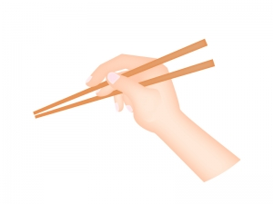お箸の持ち方のイラスト