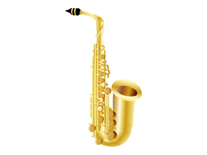 楽器・サックスのイラスト