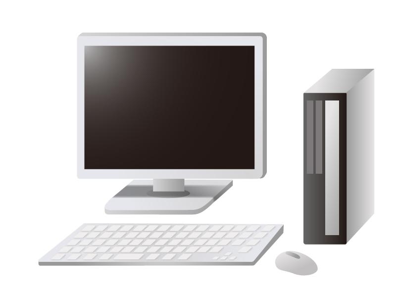 デスクトップパソコン(PC)のイラスト