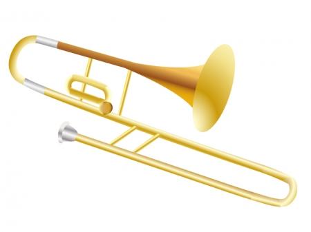 楽器・トロンボーンのイラスト