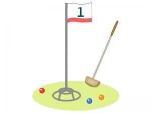 グラウンドゴルフの道具のイラスト