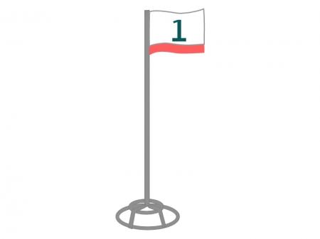 グラウンドゴルフ・ホールポストのイラスト