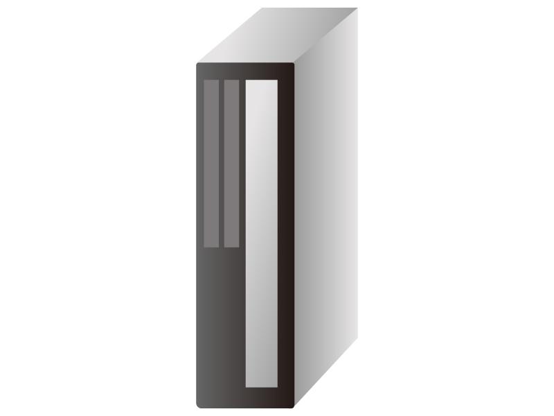 PC・タワー型パソコンのイラスト