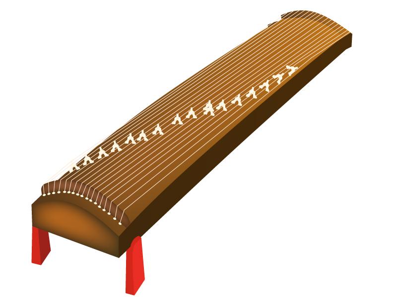 和楽器・琴のイラスト