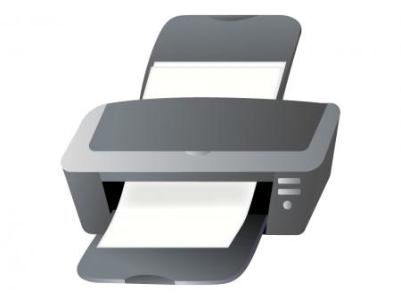 OA機器・パソコン用プリンターのイラスト