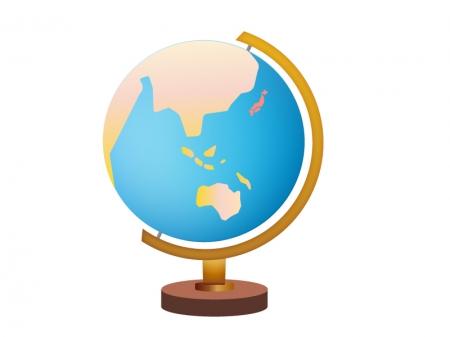 地球儀のイラスト