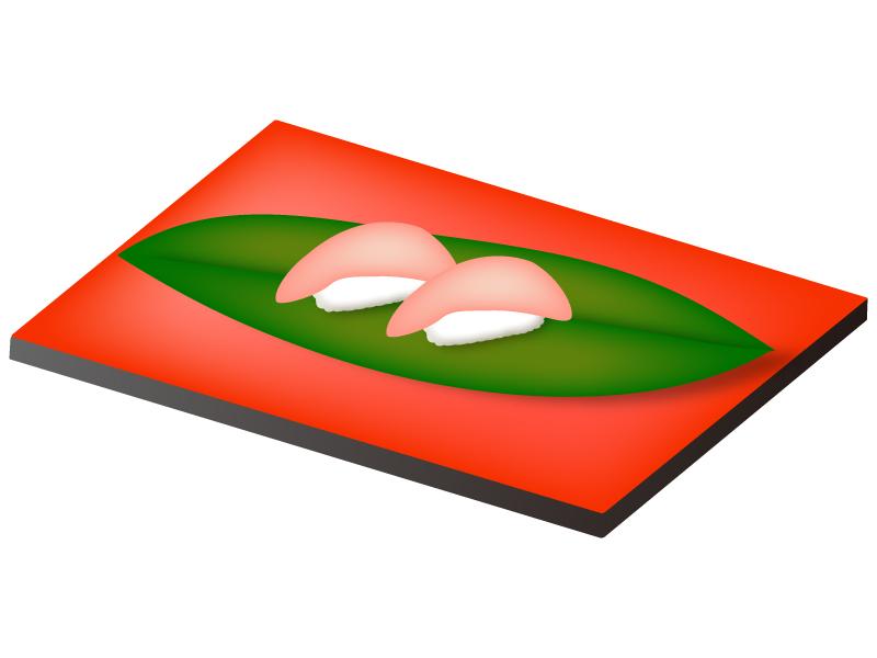 トロの握り寿司のイラスト