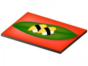 たまごの握り寿司のイラスト