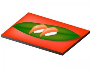 サーモンの握り寿司のイラスト