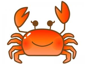 かわいい沢蟹のイラスト