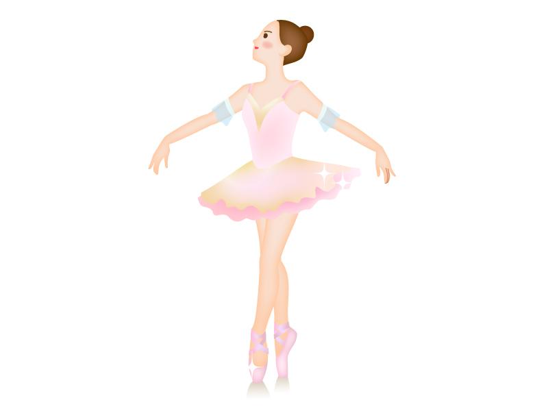 バレエをしている女性のイラスト02