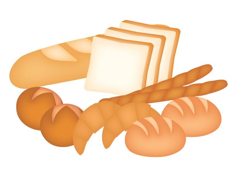 いろいろなパンのイラスト
