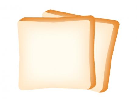 2枚の食パンのイラスト