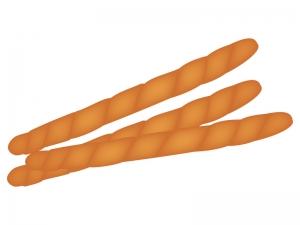 3本のツイストパンのイラスト