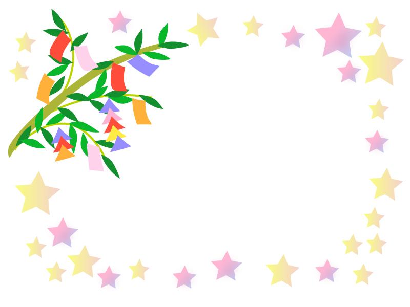 七夕の枠・フレーム素材02