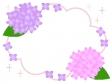 紫陽花の枠・フレーム素材