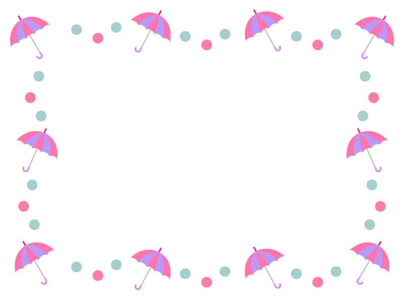 ピンクの傘の枠・フレーム素材