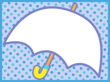 白い傘の枠・フレーム素材