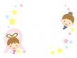 七夕・織姫と彦星の枠・フレーム素材