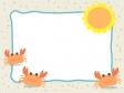 カニと太陽の枠・フレーム素材