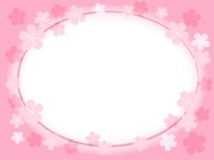 桜のフレーム・飾り枠素材08