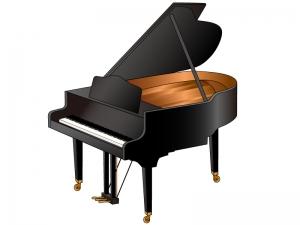 グランドピアノのイラスト02
