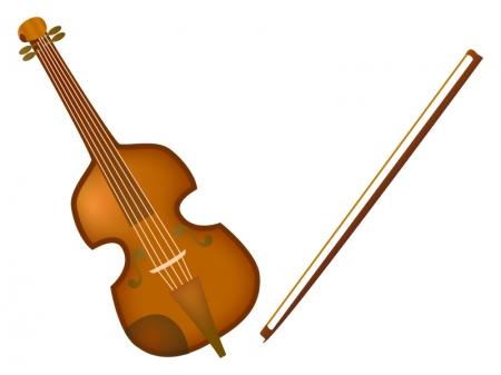 バイオリンと弓のイラスト