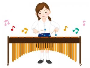 マリンバを演奏しているイラスト