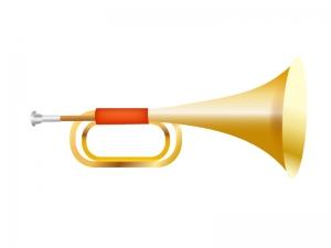 楽器・ラッパのイラスト