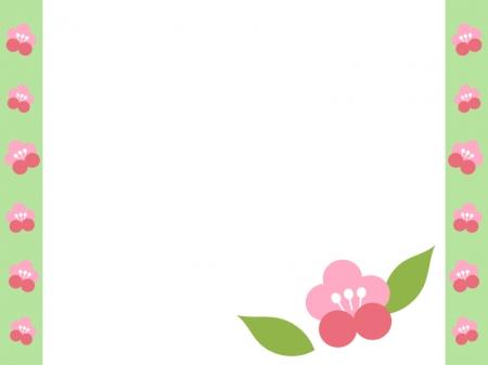 梅の花のフレーム・枠素材02