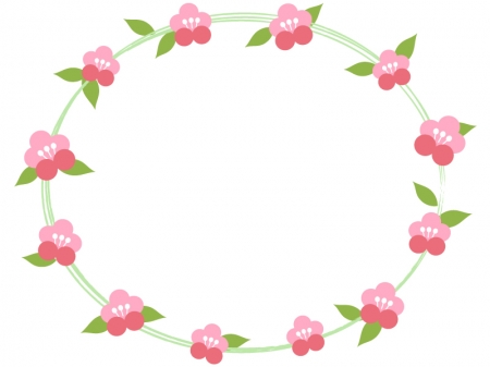 梅の花のフレーム・枠素材03