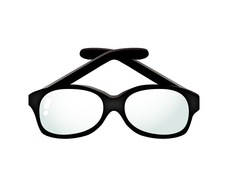 黒縁メガネのイラスト