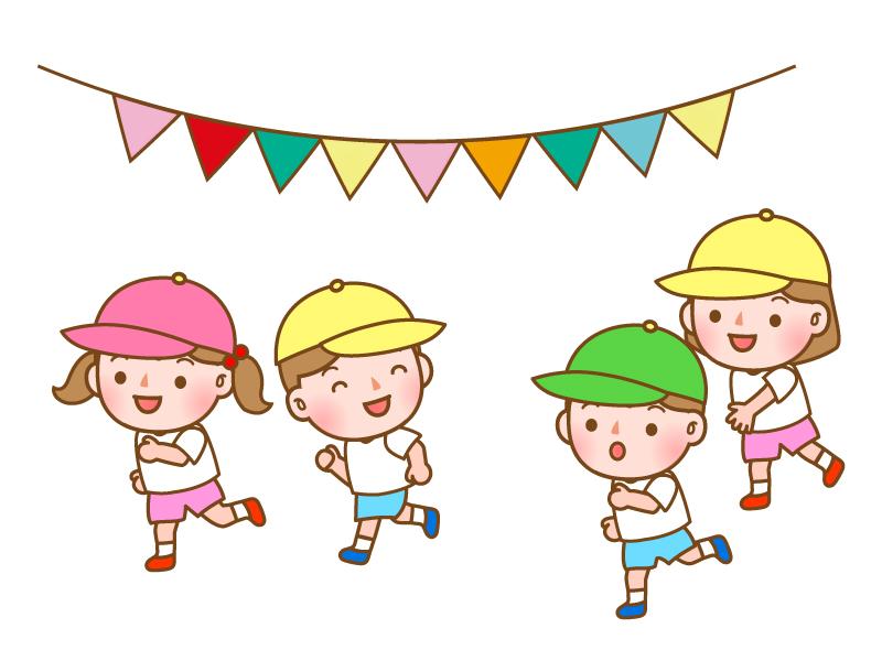 幼稚園の運動会のイラスト