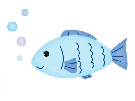 かわいい魚のイラスト